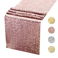 Sequin Table Runners ROSE GOLD- 12 X 108 Inch Glitter ROSE GOLD Table Runner-ROSE GOLD Party Supplies Fabric Decorations For Holiday Christmas Gift Wedding Birthday Baby Shower