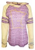 Womens Minnesota Home Hoodie - MN Stadium Lightweight Burnout Sweatshirt by Hometown Hoodies