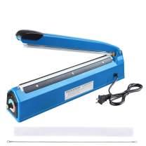 "Yescom 12"" 300mm Impulse Manual Hand Sealer Heat Sealing Machine Poly Tubing Plastic Bag"
