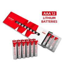 Bevigor AAA Lithium Batteries, 12Pack Ultimate Lithium Triple A Batteries, 1.5V 1100mAh Longer Lasting AAA Batteries for Flashlight, Toys, Remote Control, Non-Rechargeable