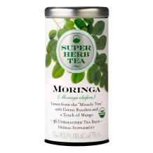 The Republic of Tea Organic Moringa Superherb Herbal Tea, Non-Caffeinated, Non-GMO Verified (36 Tea Bags)