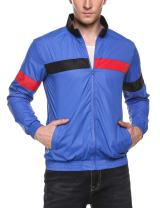 COOFANDY Men's Casual Full Zip Up Lightweight Running Jacket Outdoor Bomber Jacket Coat