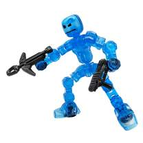 Zing Klikbot Cosmo - Series 1 - Blue - Stop Motion Animation Toy Figure