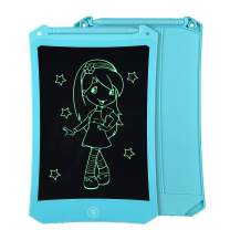 8.5 Inch Reusable LCD Writing Tablet Ewriter, Doodle Drawing Pad Game Playing Board Toy Gift for Toddlers & Kids, Teacher Planner Bulletin NotePad Board with Stylus - Mono Black & Blue