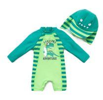 BONVERANO TM Infant Boy's UPF 50+ Sun Protection L/S One Piece Zip Sun Suit