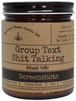 Malicious Women Candle Co - Group Text Shit Talking, Rebel Rose Infused with Screenshots, All-Natural Organic Soy Candle, 9 oz