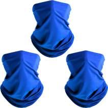 3 Face Bandana Seamless Outdoor Microfiber Motorcycle Scarf (Royal Blue)