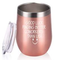 Going Away Gifts for Coworker, Leaving New Job Goodbye Farewell Birthday Gifts for Coworkers Collegue Boss, 12 Oz, Rose Gold