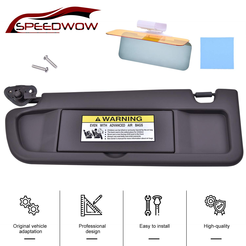 SPEEDWOW Car Sun Visor with Mirror Driver Left Side for 2006-2011 Honda Civic 83280-SNA-A01ZA 83230-SNA-A01ZA Deep Gray