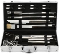 Estilo 19-piece Stainless-steel BBQ Grill Tool Set with Aluminum Storage Case