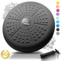 Tumaz Wobble Cushion - Wiggle Seat to Improve Sitting Posture & Attention Also Stability Balance Disc to Physical Therapy, Relief Back Pain & Core Strength for All Ages [Extra Thick, Pump Included]