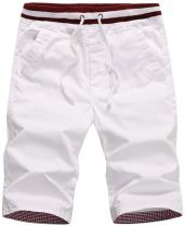 QPNGRP Mens Casual Shorts Drawstring Slim Fit Shorts for Men