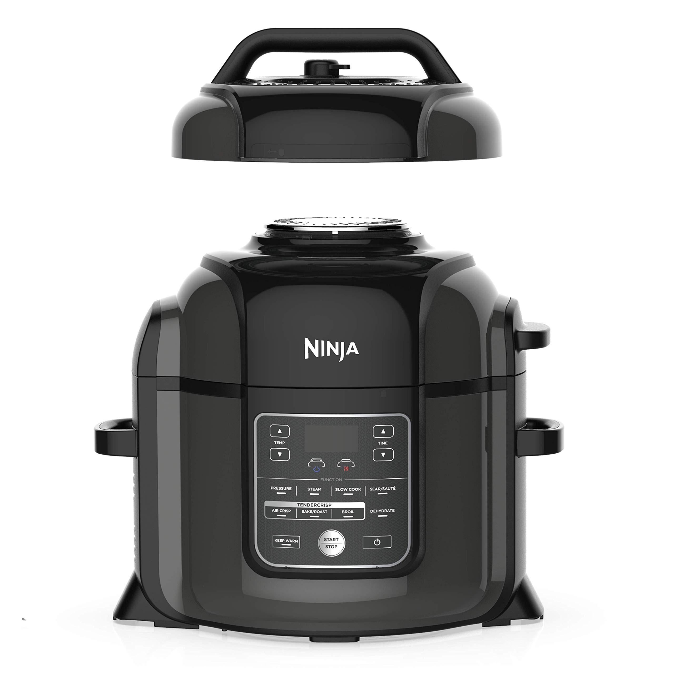 Ninja Foodi 9-in-1 Pressure, Broil, Dehydrate, Slow Cooker, Air Fryer, and More, 8-Quart, and a High Gloss Finish