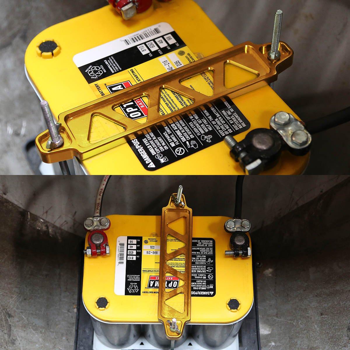 DNA MOTORING Batt-Long-GD Battery Tie Down Mount Bracket