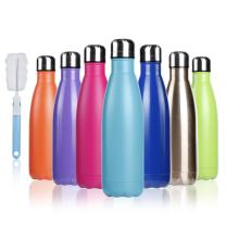 BOGI 17oz Insulated Water Bottle Double Wall Vacuum Stainless Steel Bottle Leak Proof keeps Hot and Cold Drinks for Outdoor Sports Camping Hiking Cycling(Cham)
