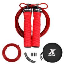 XGEAR Speed Jump Rope- Anti-Skid Handle -2 Adjustable Cable Rope-Fit for Men & Women,Workout for WOD,MMA Or Box Training