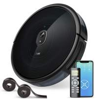 1600Pa Robotic Vacuums, dser Robot Vacuum Cleaner, Wi-Fi Connected, 2 Boundary Strips, Cleans for Carpets and Pet Hair, Voice Control, Compatible with Alexa and Google Home (RoboGeek 21T)