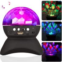 Home Party Light Bluetooth Speaker LED Rotating Projection Night Light Magic Disco Ball DJ Stage Lighting Wireless Stereo Speaker Support USB TF Card for Adult Kids Home Party Dance Club KTV Wedding