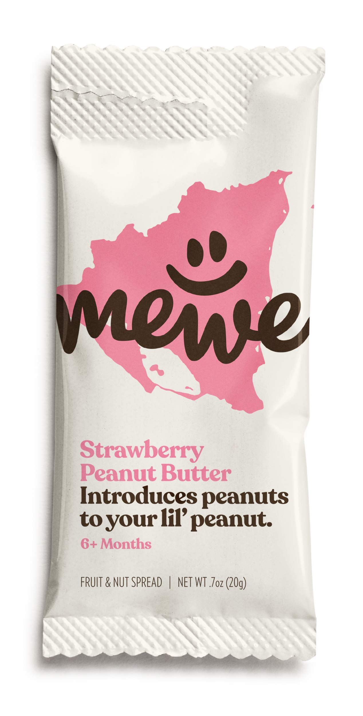 MeWe Baby | Healthy Peanut Butter Snacks, Strawberry | First Solid Food, 6+ Months (16-count)