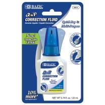 BAZIC 22ml 2 in 1 Correction w/Foam Brush Applicator & Pen Tip (Box of 24)