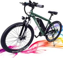 3Y 26'' Electric Bikes for Adults ebike with Removable 36V 10.4Ah Battery 350W Electric Mountain Bike for Men Shimano 21 Speed Gears