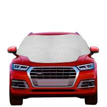 OASMU Windshield Snow Cover, Car Windshield Snow Ice Cover with 4 Layers Protection, Automotive Windshield Cover for Sun, Magnetic Waterproof Sunshade