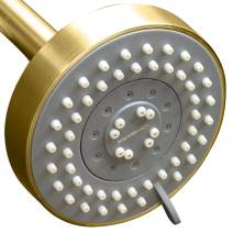 ShowerMaxx, Choice Series, 5 Spray Settings 4 inch Adjustable High Pressure Shower Head, MAXX-imize Your Shower with Showerhead in Polished Brass/Gold Finish