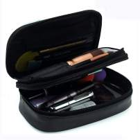 Relavel Makeup Bag Small Travel Cosmetic Bag for Women Girls Makeup Brushes Bag Portable 2 Layer Cosmetic Case with Brush Organizer Christmas Gift