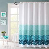 VIS'V Shower Curtain, Waterproof Fabric Shower Curtain 72 x 72 Inch Washable Heavy Duty Shower Curtain with 12 C Shaped Shower Curtain Hooks for Bathroom - Blue Dream