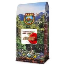 Java Planet, Organic Coffee Beans, Colombian Single Origin, Gourmet Medium Dark Roast of Arabica Whole Bean Coffee, Certified Organic, Rainforest Alliance Certified, 1LB Bag