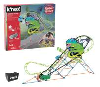 K'NEX Thrill Rides – Twisted Lizard Roller Coaster Building Set with Ride It! App – 402 Piece – Ages 7+ Building Set (Amazon Exclusive)
