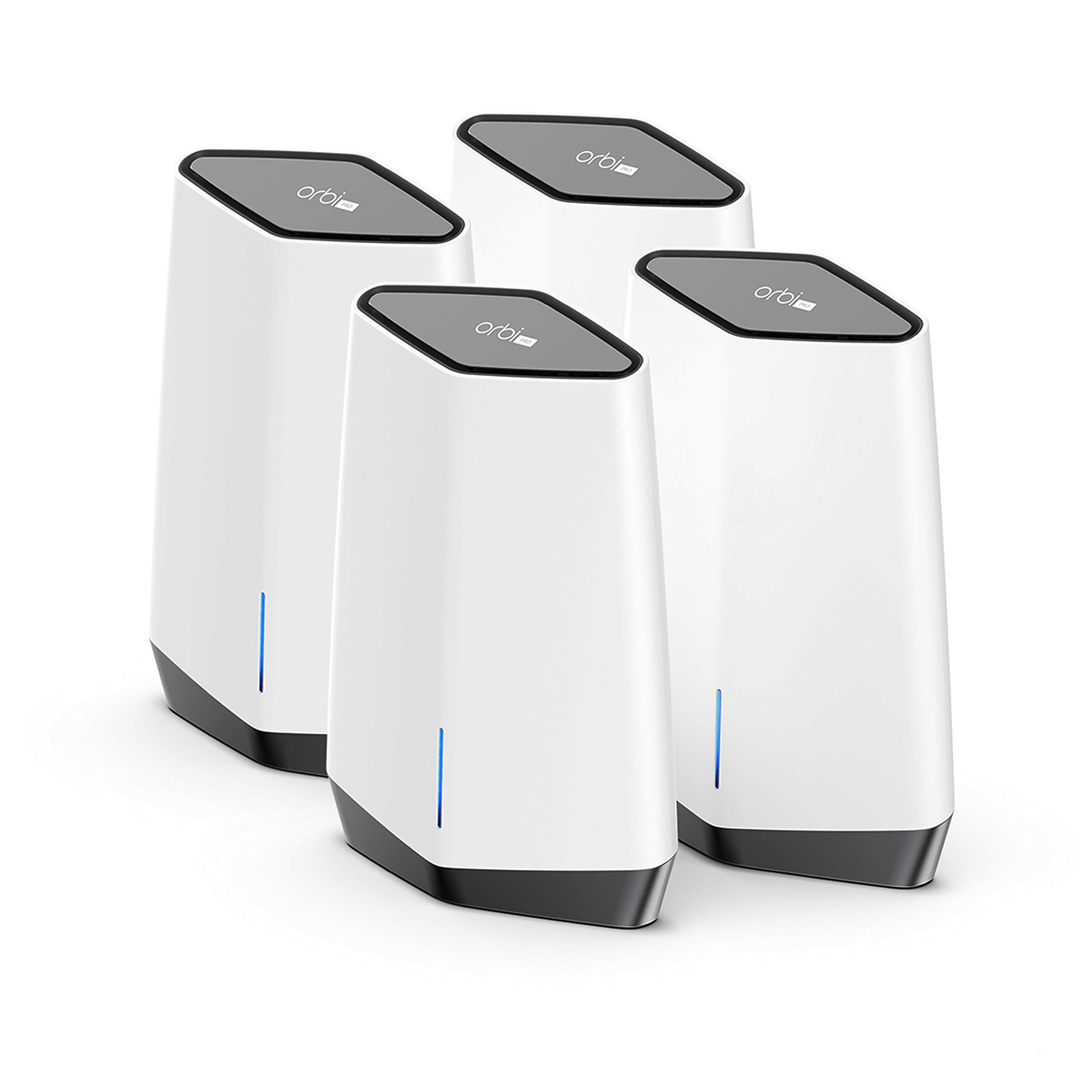 NETGEAR Orbi Pro WiFi 6 Tri-Band Mesh System (SXK80B4)   Router with 3 Satellite Extenders for Business or Home   Coverage up to 12,000 sq. ft. and 60+ Devices   AX6000 802.11 AX (up to 6Gbps)