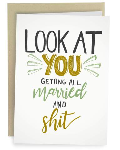Illustrated Congrats Celebration Wedding Day Wedding Card SALE Adorable Pair Congratulations Greeting Card