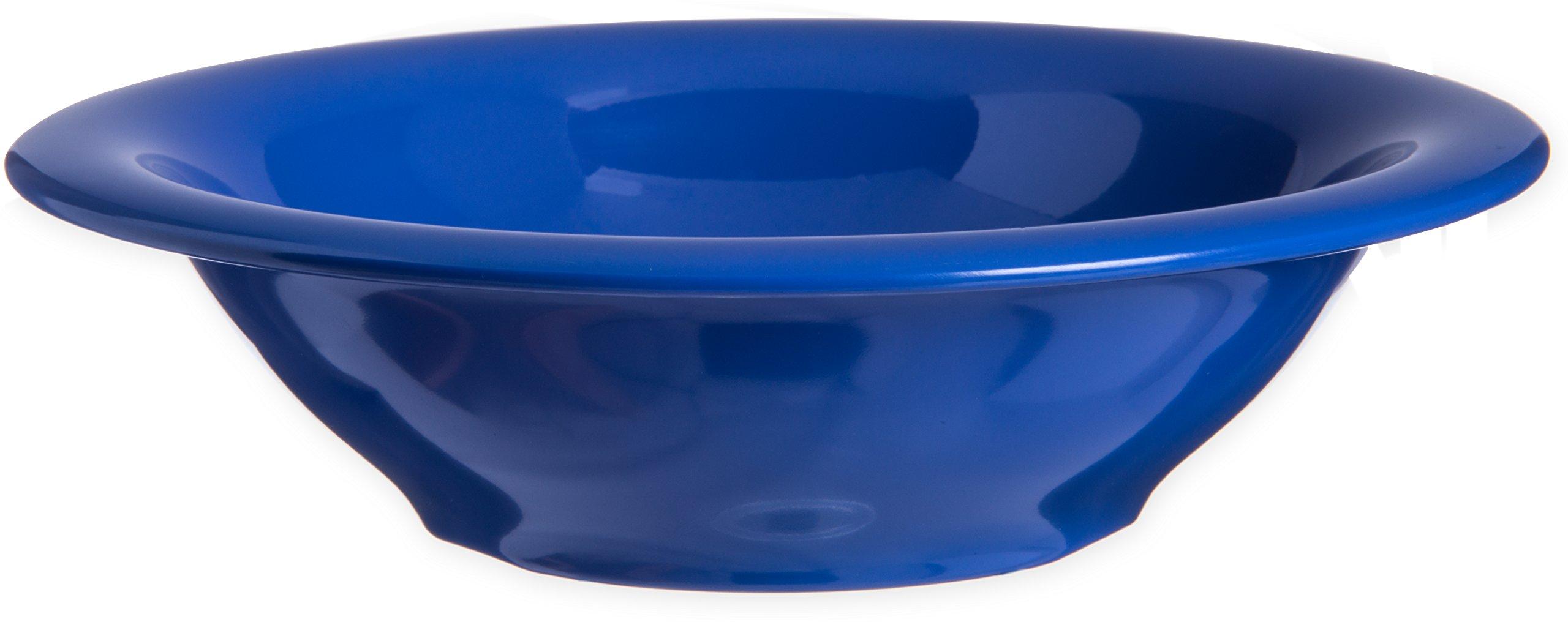 Carlisle 4303614 Durus Rimmed Melamine Bowl, 13 Oz., Ocean Blue (Pack of 24)