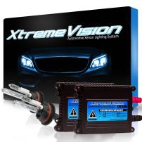 Xtremevision DC 35W Xenon HID Lights with Premium Slim Ballast - 9004 10000K - 10K Dark Blue - 2 Year Warranty