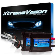 Xtremevision DC 35W Xenon HID Lights with Premium Slim Ballast - 9004 10000K - 10K Dark Blue - 2 Year Warranty