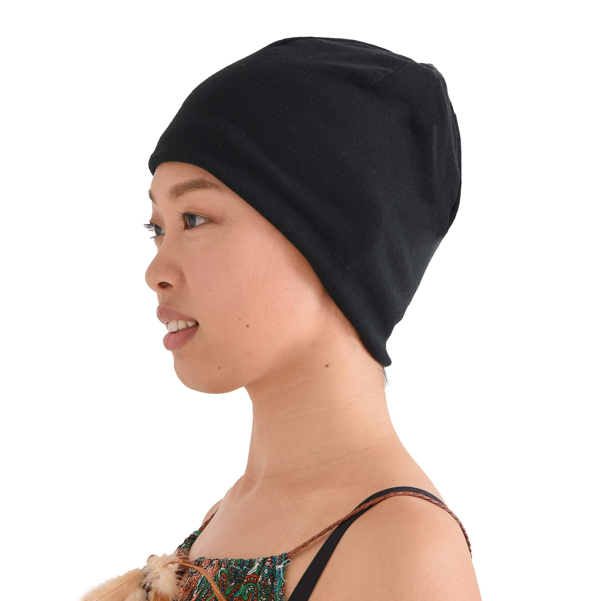 Organic Cotton Beanie Chemo Hat - Sensitive Skin Cap Medical Wear Snug Tight