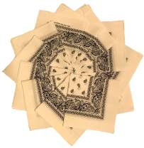 Styllion printed Bandanas - 12 pack - 100% Cotton