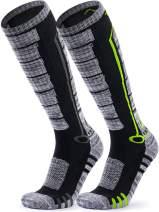 TSLA Unisex (Pack of 2) Ski Winter Active Snowboard Comfort Calf Socks