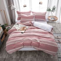 Merryfeel Duvet Cover Set,100% Cotton Yarn Dyed Stripe Bedding Set, 3 Pieces(1 Duvet Cover with 2 Pillowshams) - Full/Queen
