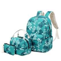 H HIKKER-LINK School Backpack Laptop Bookbag Lunch Pencil Bag 3PCS Set Sky Blue