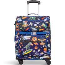 Bixbee Kids Luggage with Wheels, Meme Space Odyssey Blue