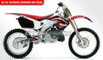 Kungfu Graphics Custom Decal Kit for Honda CR125 CR250 1997 1998 1999, Red White Black, Style 008