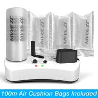 JZBRAIN Air Pillow Maker 110V Air Making Machine Air Cushion Machine Air Packing Machine Inflatable Packaging + 100m Free Test Film Roll