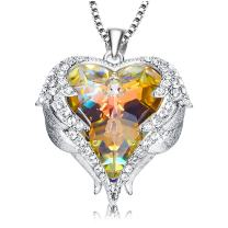 NEWNOVE Love Heart Pendant Necklaces for Women Made with Swarovski Crystals