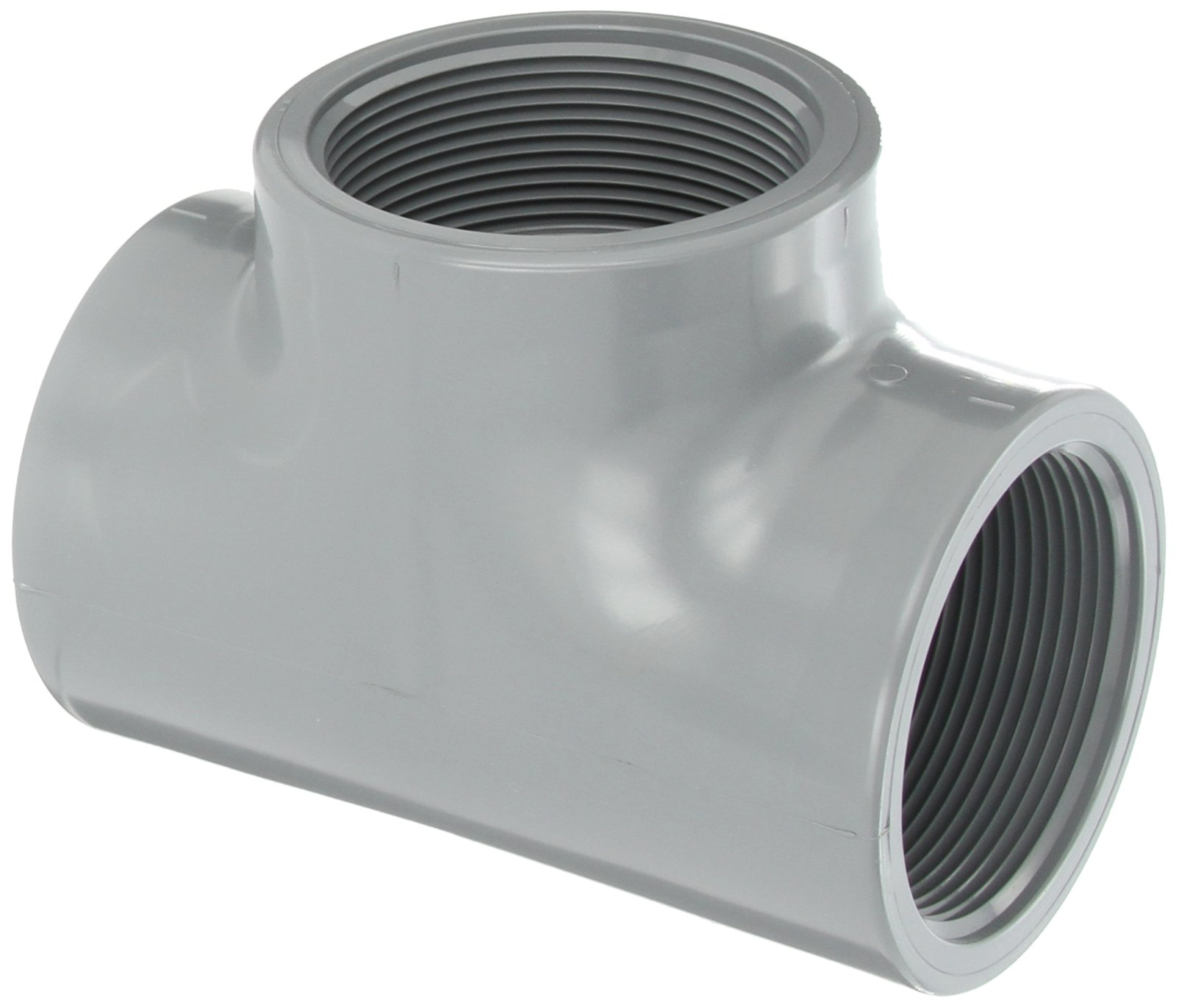 """Spears 805-C Series CPVC Pipe Fitting, Tee, Schedule 80, 3"""" NPT Female"""