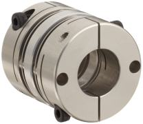 "Lovejoy 77219 Size MD-32C Mini Disc Clamp Style Coupling, Complete Coupling, 0.313"" Bore A, 0.313"" Bore B, 1.26"" OD, 1.575"" Length, 6000 rpm Max Rotational Speed, 22 in-lbs Nominal Torque"