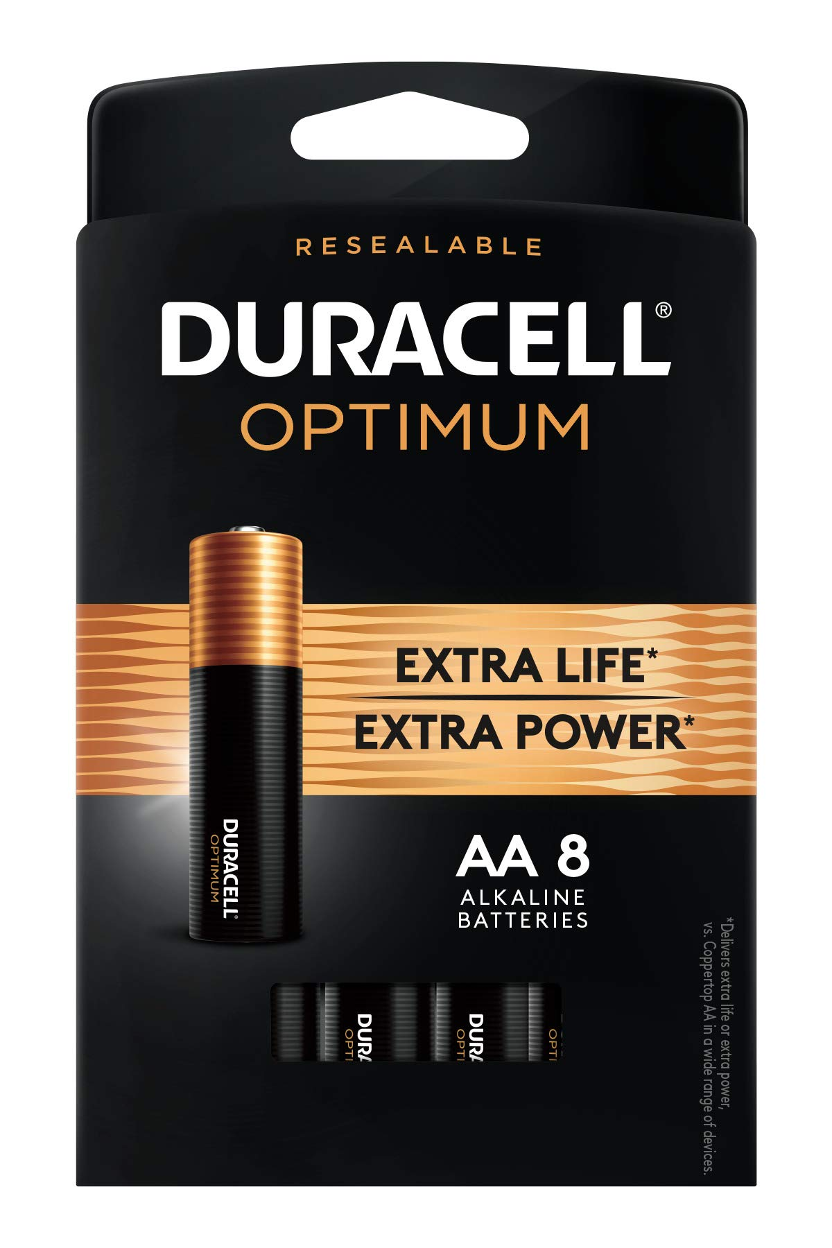 Duracell Optimum AA Batteries | 8 Count | Long Lasting Double A Battery | Alkaline AA Battery