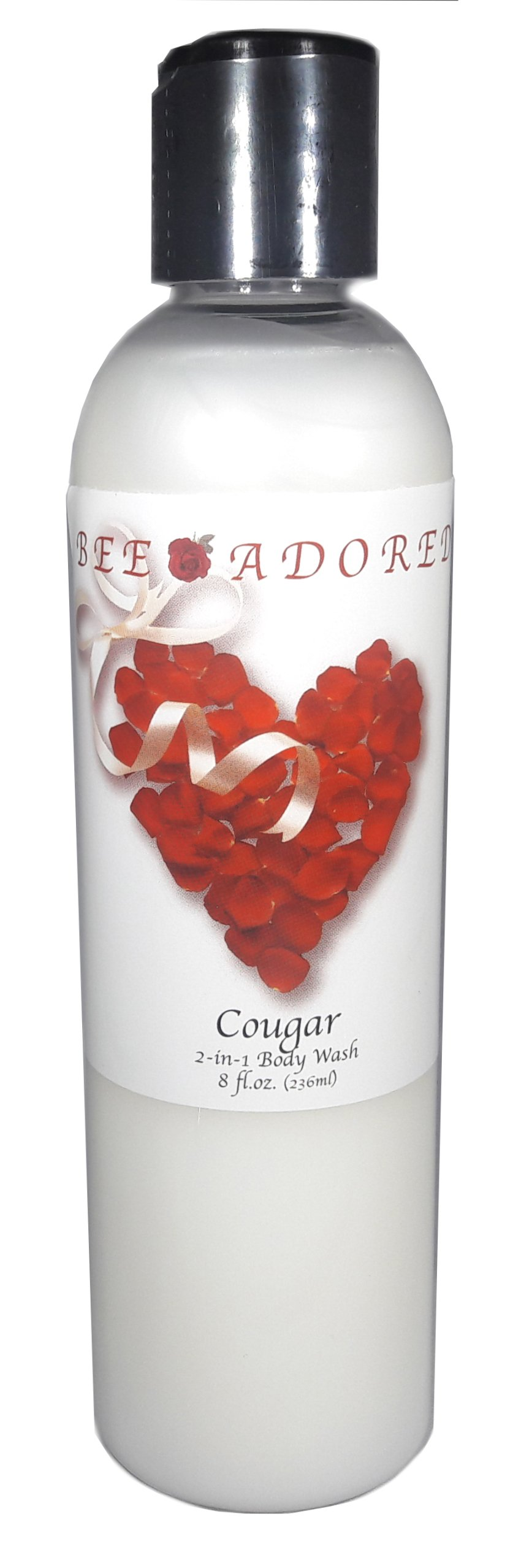 Bee Adored Body Wash, Cougar, 8 Fluid Ounce