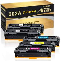 Arcon Compatible Toner Cartridge Replacement for HP 202A CF500A 202X HP MFP M281fdw M254dw Toner HP Color Laserjet Pro MFP M281fdw M254dw M281cdw M281dw M254dn M254nw M281fdn Toner Printer (2K+CMY)